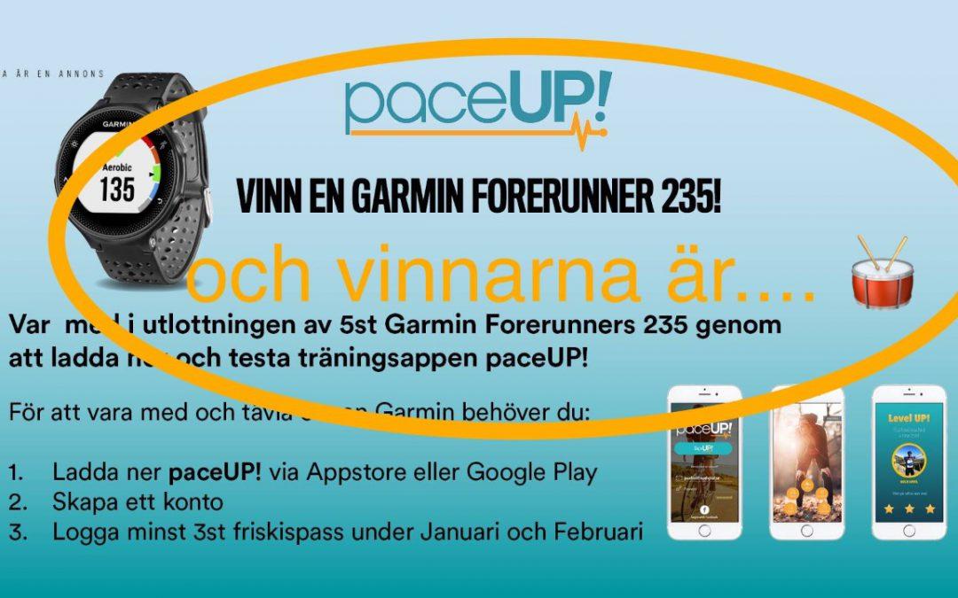 PaceUP! + Friskis&Svettis = 5st vinnare av en Garmin Forerunner!