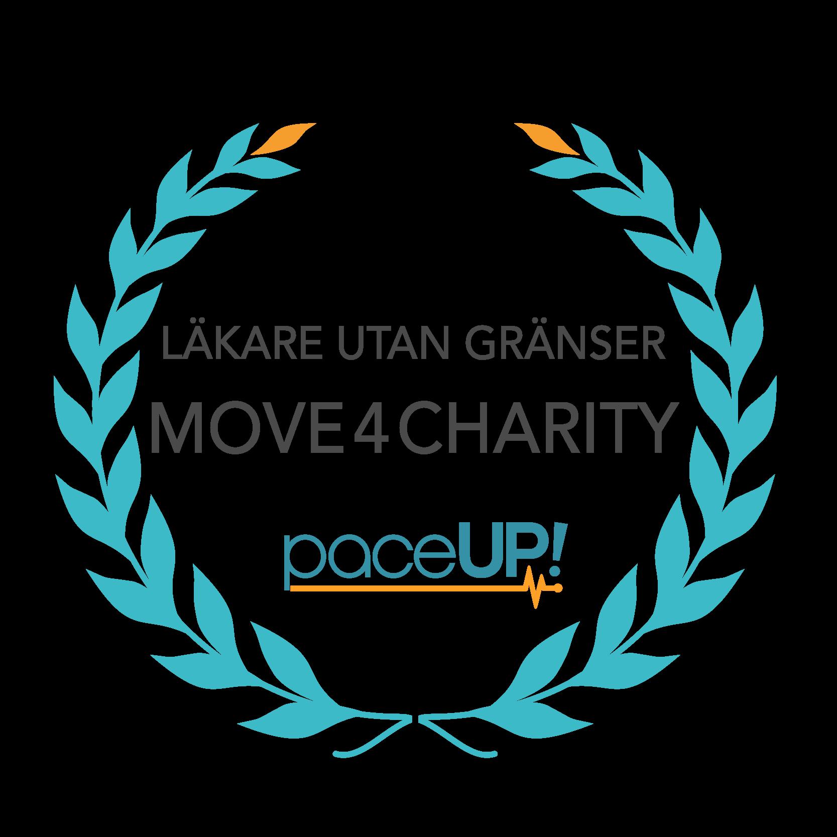 PaceUp Move4Charity Läkare utan Gränser