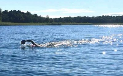 Lisa springer vidare med Swimrun i Göteborg